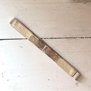 Gold Clasp Stretch Belt. S